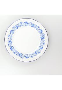 Conjunto De Pratos Rasos Porcelana Schmidt 06 Peças - Dec. Edite