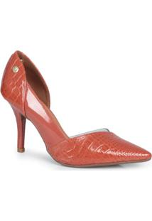 Sapato Scarpin Vizzano Croco Caramelo