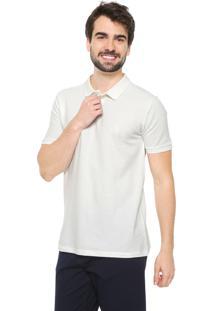 Camisa Polo Reserva Reta Orgânica Off-White