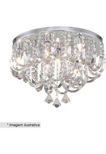 Plafon Com Ornamentos Retorcidos- Cristal- 30Xø45Cm