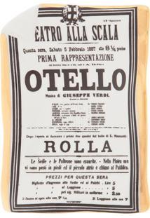 Fornasetti Bandeja Cinza Em Porcelana. - Branco