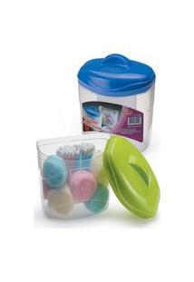 Porta Algodáo E Cotonete Organizador Plastico 9X13X13Cm