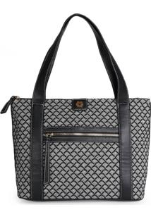 Bolsa Shopping Bag Ana Hickmann Jacquard