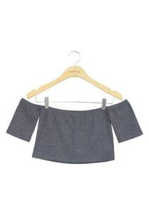 Blusa Lucy In The Sky Cropped Cinza