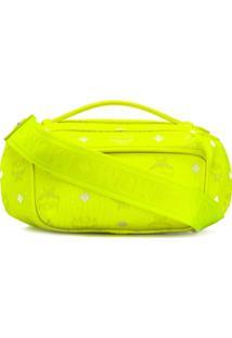 Mcm Bolsa Transversal Com Logo - Amarelo