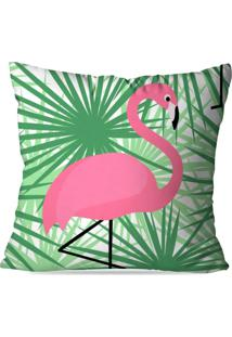 Capa De Almofada Avulsa Decorativas Flamingo Green 45X45Cm