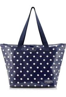Bolsa Jacki Design Flanelado - Feminino-Azul Escuro
