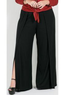 Calça Plus Size Pantalona Preta