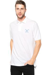 Camisa Polo Polo Play Reta Logo Branca