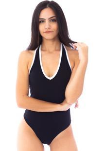 Body Moda Vicio Frente Unica Preto E Branco