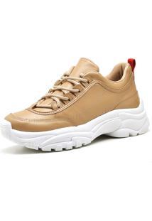 Tênis Trivalle Shoes Couro Baunilha