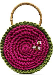 My Beachy Side Bolsa Circular De Crochê - Rosa