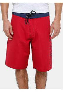 Bermuda D'Água Calvin Klein Ck Masculina - Masculino-Vermelho