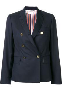 Thom Browne Narrow Shoulder Wool Sport Coat - Azul