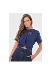 Camiseta Dimy Torção Azul-Marinho