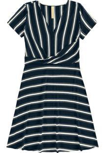 Vestido Malha Falaise Stripe Azul