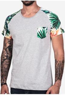 Camiseta Raglan Mescla Floral 102153