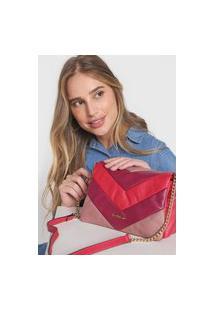 Bolsa Dumond Color Block Rosa