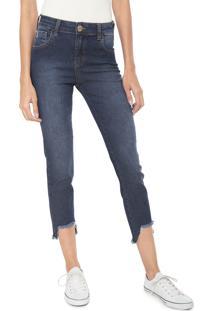 5b36372537 ... Calça Jeans Coca-Cola Jeans Skinny Cropped Assimétrica Azul