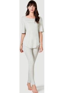 Pijama Feminino Com Calça Legging