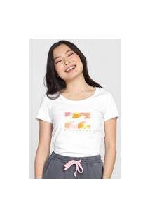 Camiseta Billabong Groovy Garden Branca
