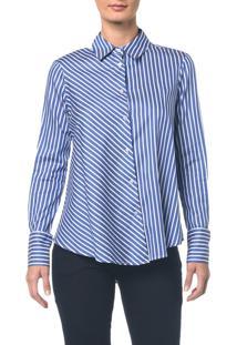 Camisa Listras - Azul Médio - 36
