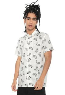 Camisa Snoopy Reta Estampada Off-White