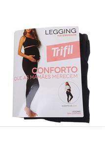 Meia Calça Trifil Legging Maternidade Sem Costura Feminina - Feminino-Preto