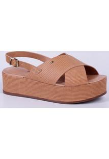 Sandália Feminina Flatform Textura Dakota Z3141