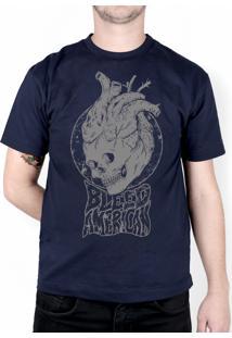 Camiseta Bleed American Medusa Marinho