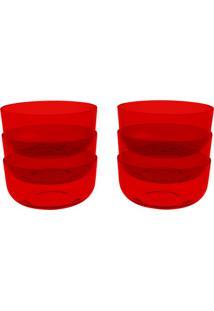 Conjunto De Cremeiras Com 6 Unidades Cozy Vermelho 300 Ml