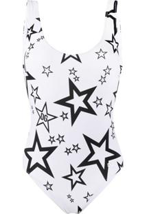 Dolce & Gabbana Maiô Millennials Star Com Estampa - Branco