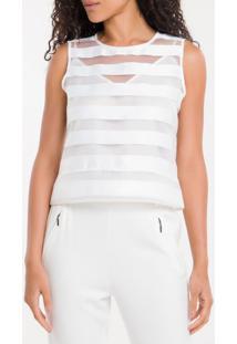 Cropped Listras Calvin Klein - Branco 2 - Pp
