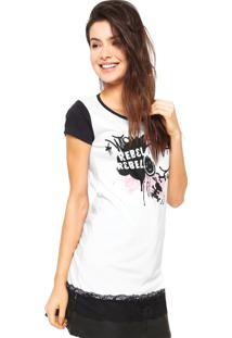 Camiseta Snoopy Rebel Branca
