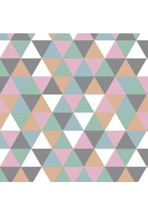 Tapete Mosaico Triângulos Rosa Claro Casa Dona Antiderrapante 100 X 140 Cm 100% Marca Própria