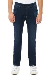 Calça Jeans Escuro Slim Turbofan Azul Hangar 33
