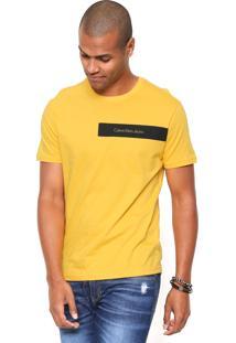 Camiseta Calvin Klein Jeans Ckj Amarela