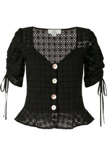 We Are Kindred Blusa Vienna De Crochê - Preto
