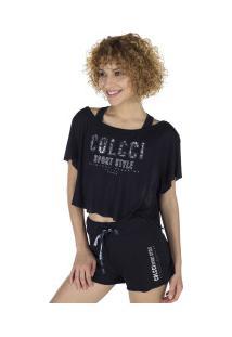 Blusa Cropped Colcci 365700401 - Feminina - Preto