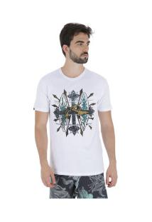 Camiseta Rusty Bc Crucify - Masculina - Branco