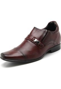 Sapato Social Couro Rafarillo Liso Caramelo