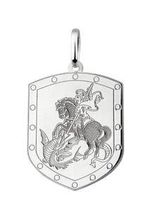 Pingente Escudo De São Jorge Em Prata 925 - Unissex-Prata