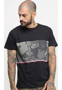 Camiseta Quiksilver Esp Division Pro Masculina - Masculino-Preto