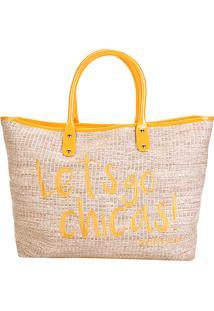 Bolsa Petite Jolie Shopper Sam Bag Feminina - Feminino-Amarelo