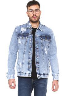 Jaqueta Jeans John John Espanha Azul