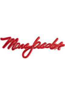 Marc Jacobs Broche Com Logo - Vermelho