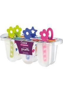Forma Para Picolé Sanremo Em Plástico Incolor 1 Peça