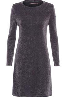 Vestido Tricot Lurex Pilar - Preto