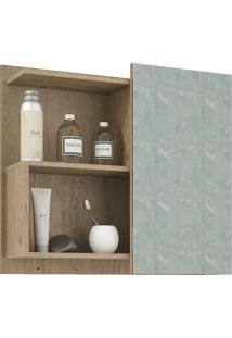Espelheira Para Banheiro Com 1 Porta 60Cm Lis-Mgm - Carvalho