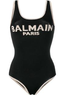 Balmain Body Com Logo - Preto
